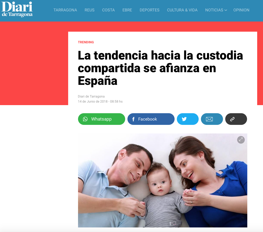 Diari de Tarragona Elena Crespo custodia compartida