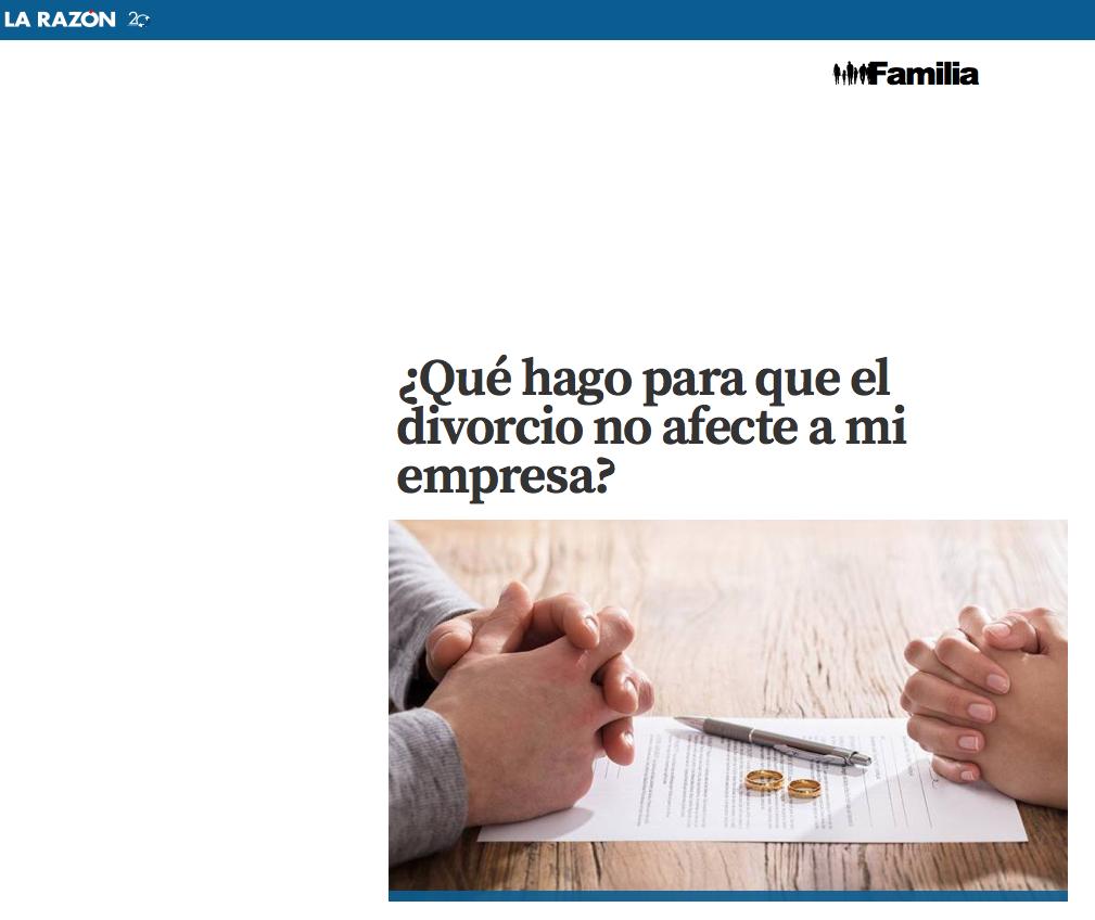 Evitar que el divorcio afecte a tu empresa