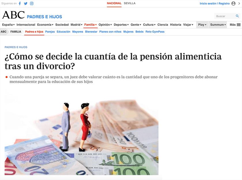 Entrevista Elena Crespo pensión alimenticia ABC