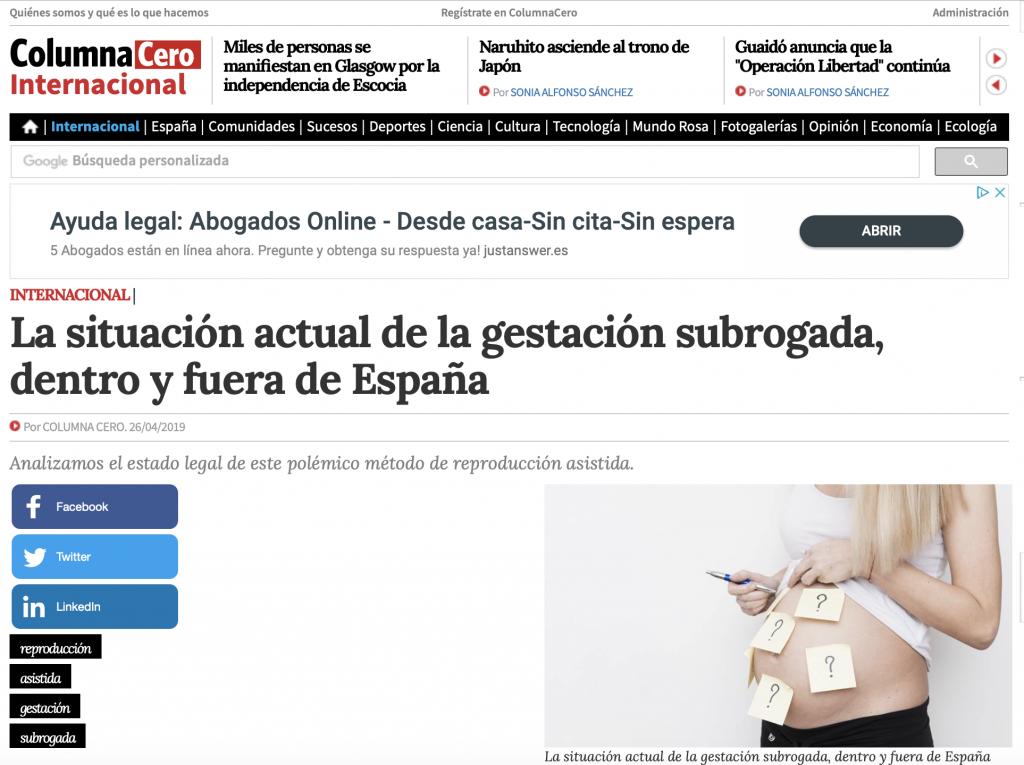 Abogada Elena Crespo maternidad subrogada entrevista