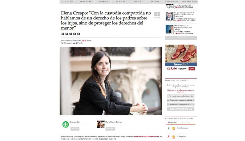 entrevista elena crespo law and trends