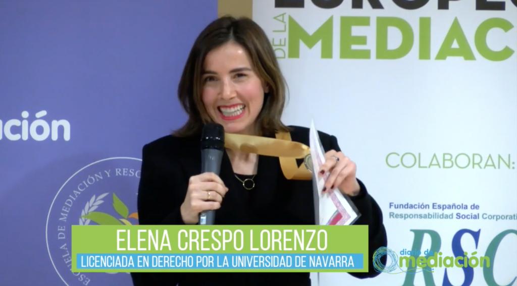 video abogada familia elena crespo lorenzo medalla al merito profesional de diario de mediacion